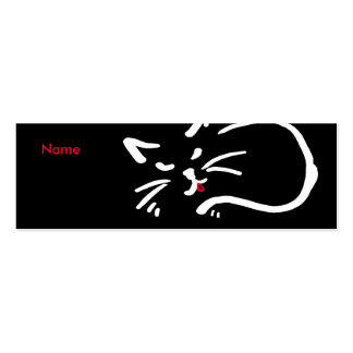 Cat's tongue Double-Sided mini business cards (Pack of 20)