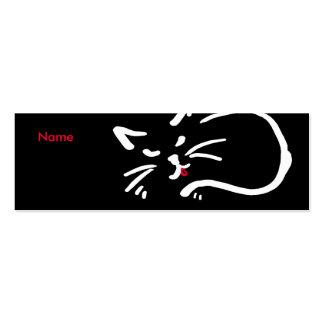 Cat's tongue mini business card