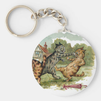 Cats Trade Punches Basic Round Button Keychain