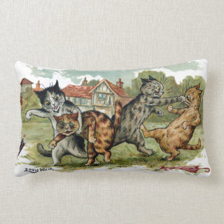 Cats Trade Punches Throw Pillows