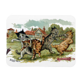 Cats Trade Punches Rectangular Photo Magnet