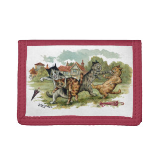Cats Trade Punches Trifold Wallets