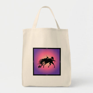 Cats & Unicorns Grocery Tote Tote Bags