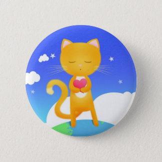 Cats want world peace - pin badge