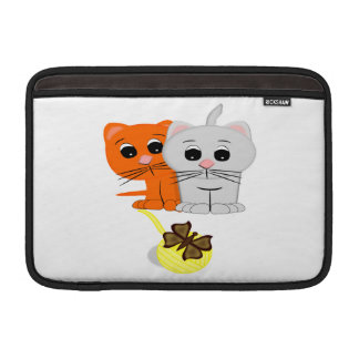Cats Watching A Butterfly On A Ball Of Yarn MacBook Air Sleeve