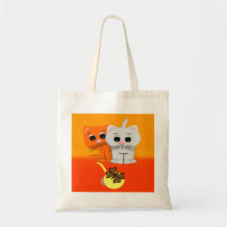 Cats Watching Butterfly On A Ball Of Yarn Tote Bag