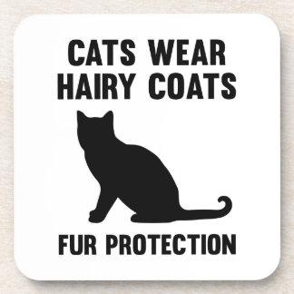 Cats Wear Hairy Coats Fur Protection Coasters