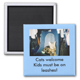 Cats welcome. magnet