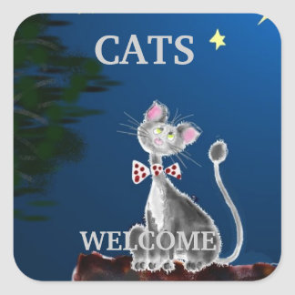 Cats Welcome Stickers