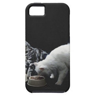 Cats with bowl of food iPhone SE/5/5s case