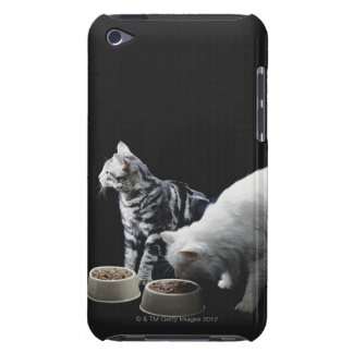 Cats with bowl of food iPod Case-Mate case