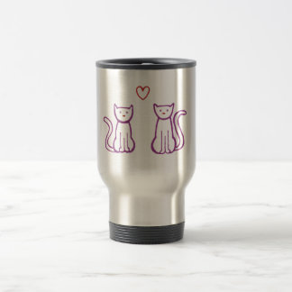 Cats with Heart Travel Mug