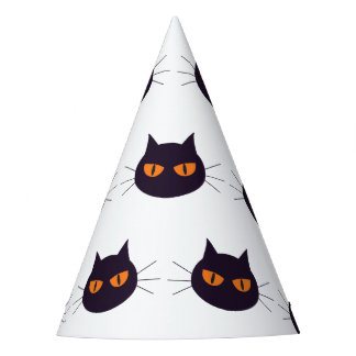 Cats with orange eyes Halloween Party Hat