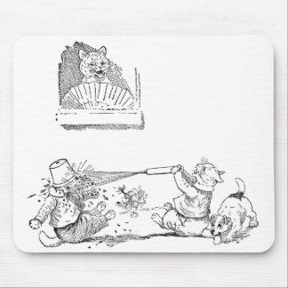 Cats With Squirt Get Comeuppance Mouse Pad