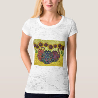 Cats With Sunflowers T-shirt