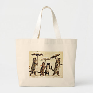 Cats With Umbrellas Tote Bags