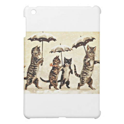 Cats With Umbrellas Cover For The iPad Mini