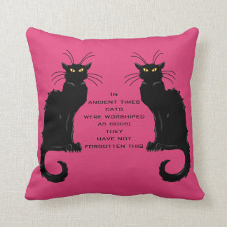 Cats Worshiped as Gods; They Have Not Forgotten Throw Pillow