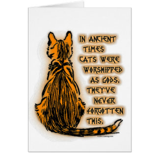 Cats Worshipped as Gods Card