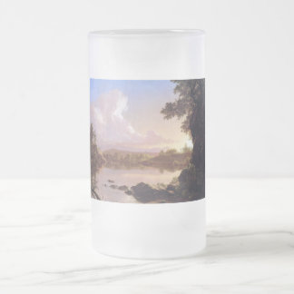 Catskill Creek by Frederick Edwin Church Frosted Glass Beer Mug