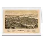 Catskill, mapa panorámico de NY - 1889 Tarjeta De Felicitación