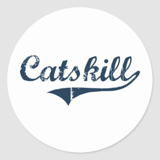 Catskill New York Classic Design Classic Round Sticker