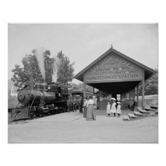Catskills Railroad Station, 1902. Vintage Photo Poster