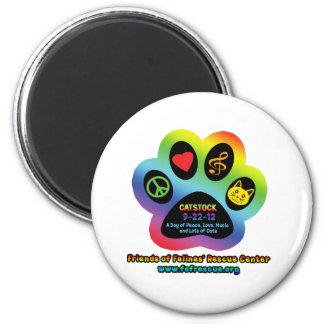 Catstock 2012 2 inch round magnet