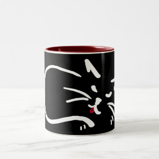 catstongue Two-Tone coffee mug