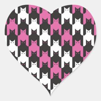 CatsToooth Stripes Heart Sticker