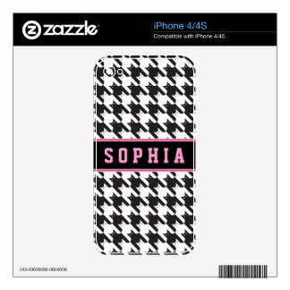 CatsTooth Black and White Decals For iPhone 4