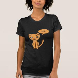Catsup Cat Saying 'Sup T-Shirt