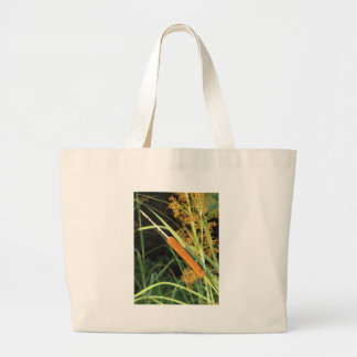 Cattail at Sunset Large Tote Bag