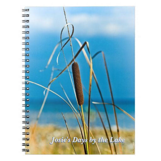 Cattail by the Lake Shore Custom Notebook