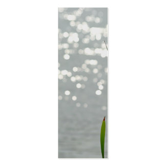Cattail in Front of Lake Double-Sided Mini Business Cards (Pack Of 20)