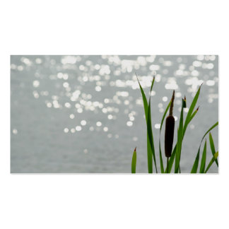 Cattail in Front of Lake Double-Sided Standard Business Cards (Pack Of 100)