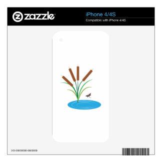 Cattail Pond iPhone 4 Skins