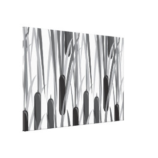 cattails 2 stretched canvas print