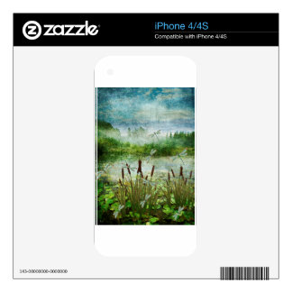 CATTAILS AND DRAGONFLIES.jpg Skin For The iPhone 4S