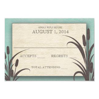 Cattails Aqua Lake Wedding Response Card