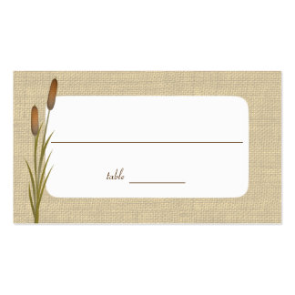 Cattails by the Lake Seating Cards Double-Sided Standard Business Cards (Pack Of 100)