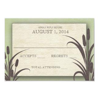 Cattails Green Lake Wedding Response Card
