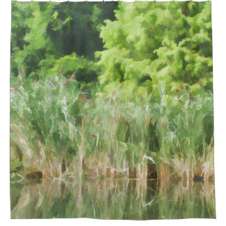 Cattails In The Pond Shower Curtain