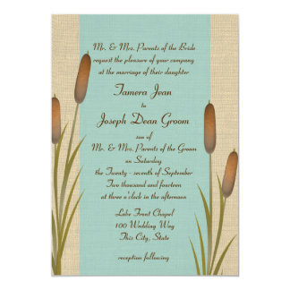 Cattails Lake Wedding 5x7 Paper Invitation Card