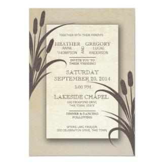 Cattails Water Front Wedding Card