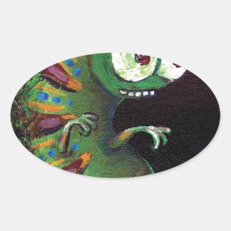 cattapillar tall.jpg oval sticker