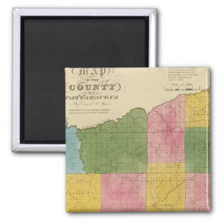 Cattaraugus County 2 Inch Square Magnet