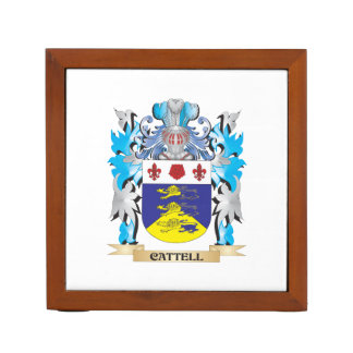 Cattell Coat of Arms - Family Crest Desk Organizers