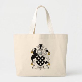 Cattell Family Crest Tote Bags