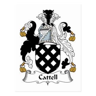 Cattell Family Crest Postcard